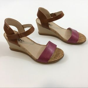 Pikolinos leather wedge sandal 38